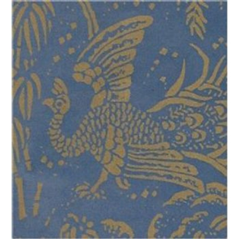 A3 Fine Qual Peacocks Gold on Blue paper