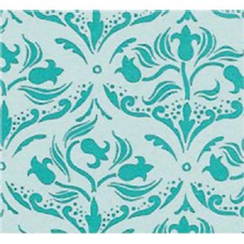 A3 Fine Qual Tulip Arabesque Turquoise Paper