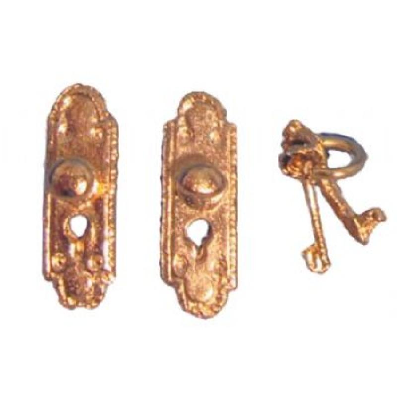 Door Plate with Knob & Key
