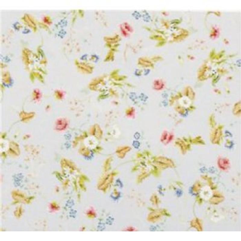 Rococo Silk Blue Wallpaper