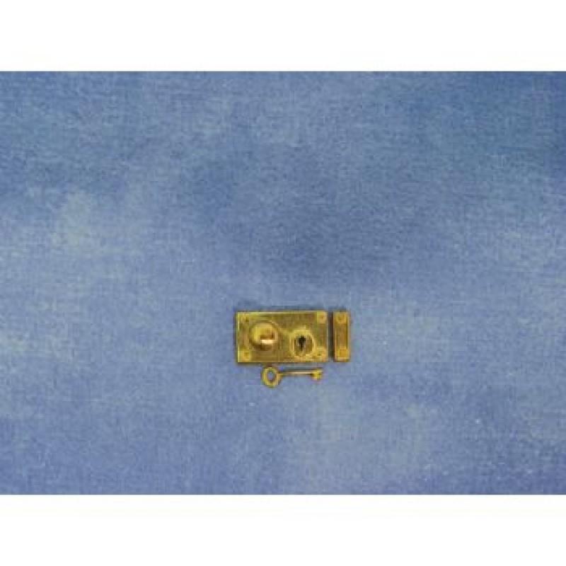 Brass Rim Lock and Key