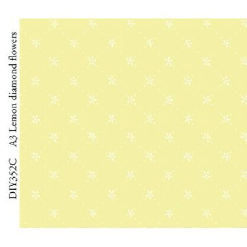 A3 Lemon Diamond Flowers Paper