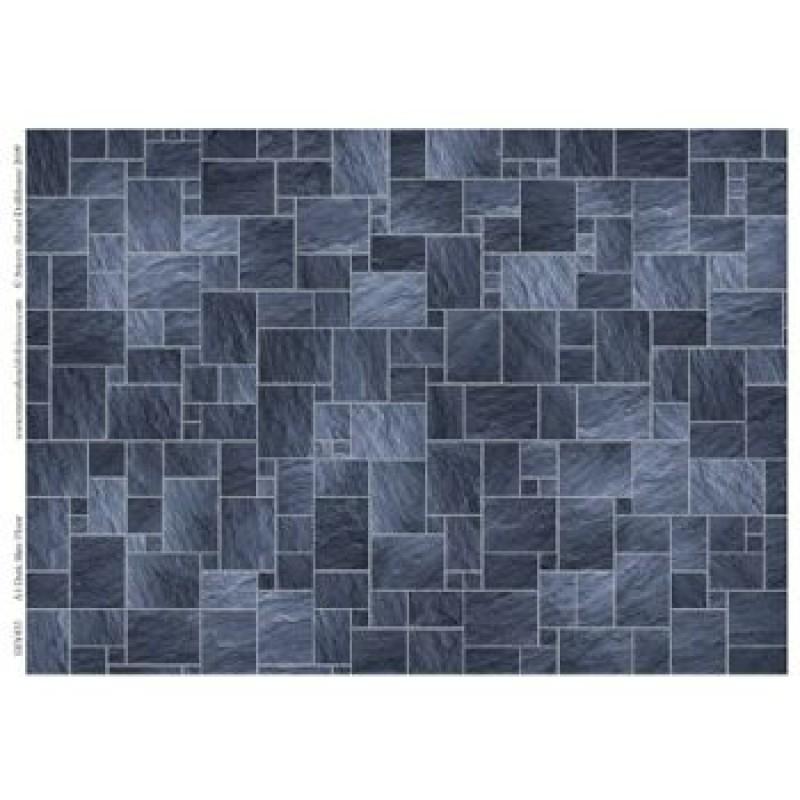 A3 Dark Slate Floor Tiles