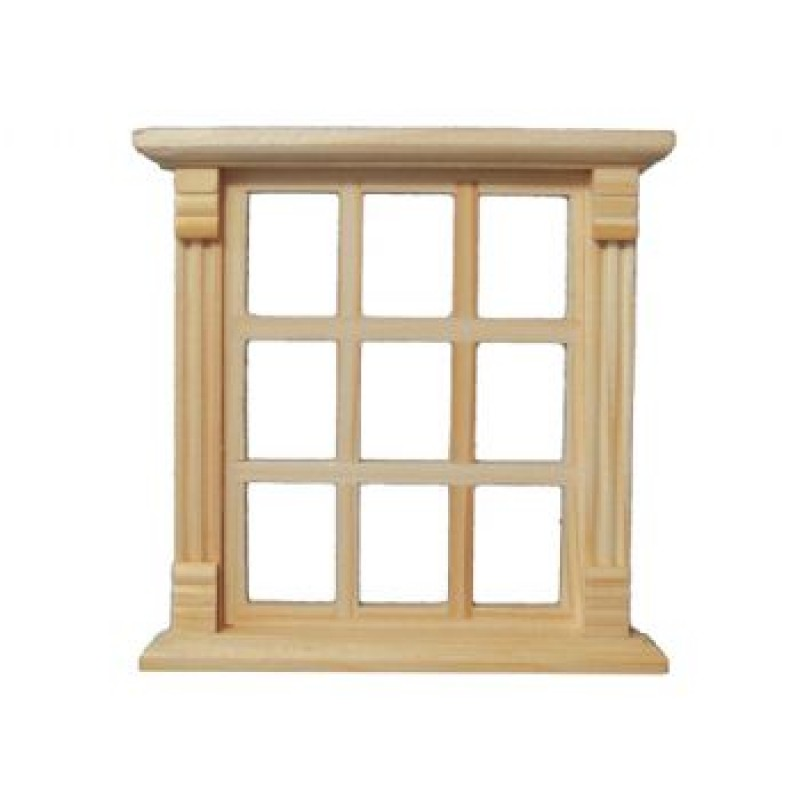 9 Pane Wood Window