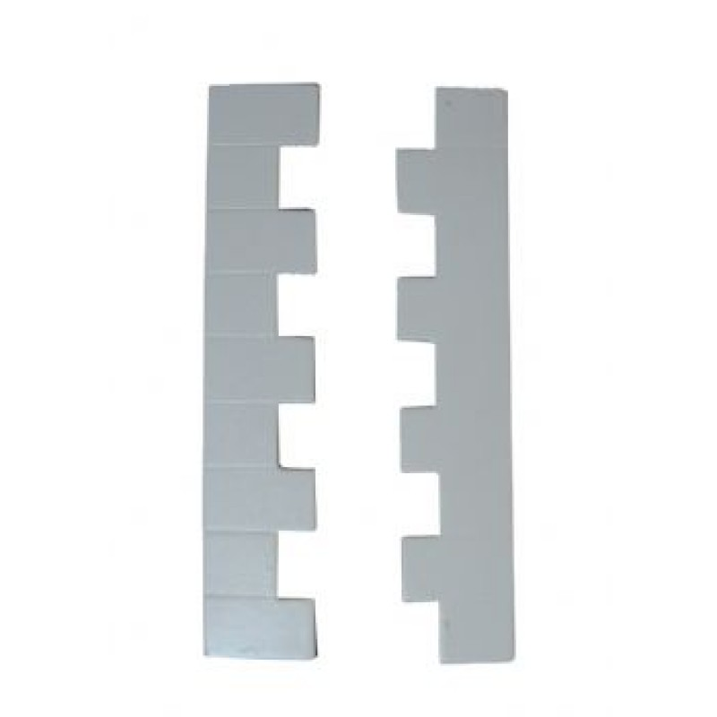 White Wooden Cornerstone Strips, 12 pack