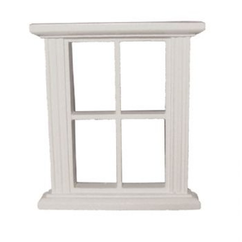 4 Pane White Window