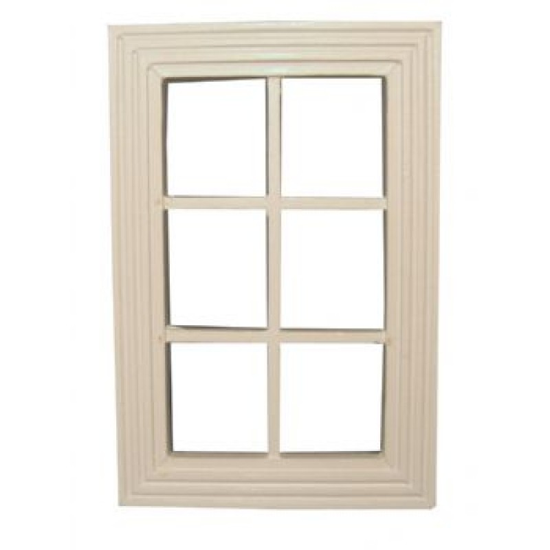 6 Pane White Window