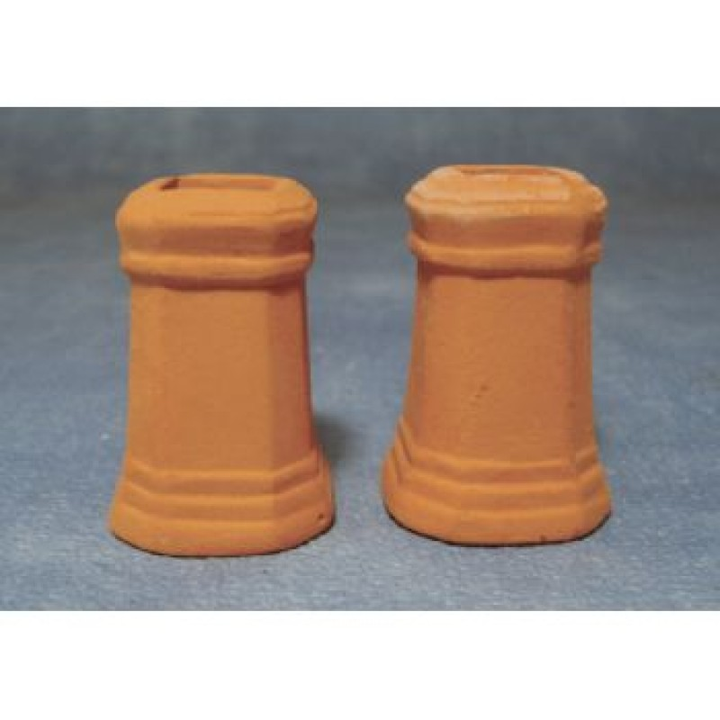Square Chimney Pots, 2 pack