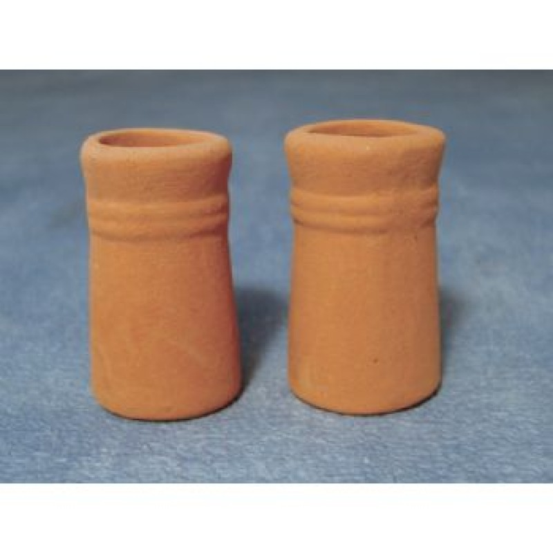 Small Round Chimney Pots, 2 Pack