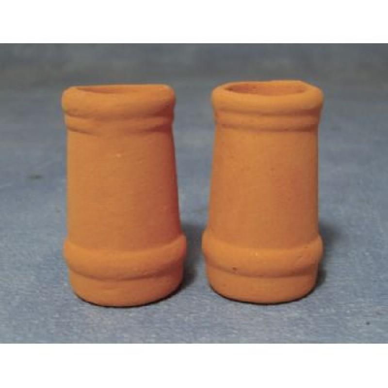 Medium Round Chimney Pots, 2 pack