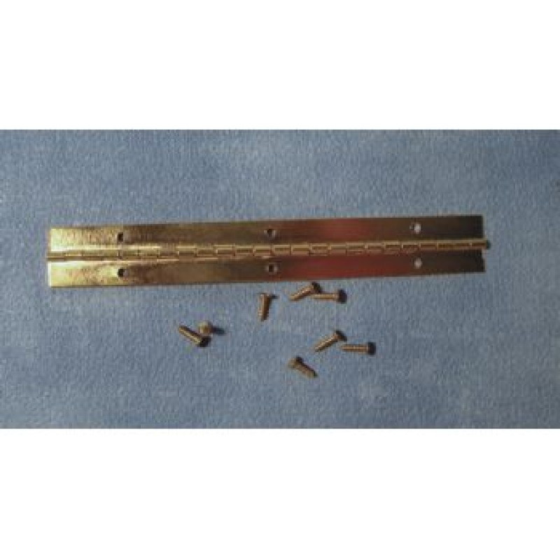 120mm Brass Piano Hinge & Screws Pk of 4