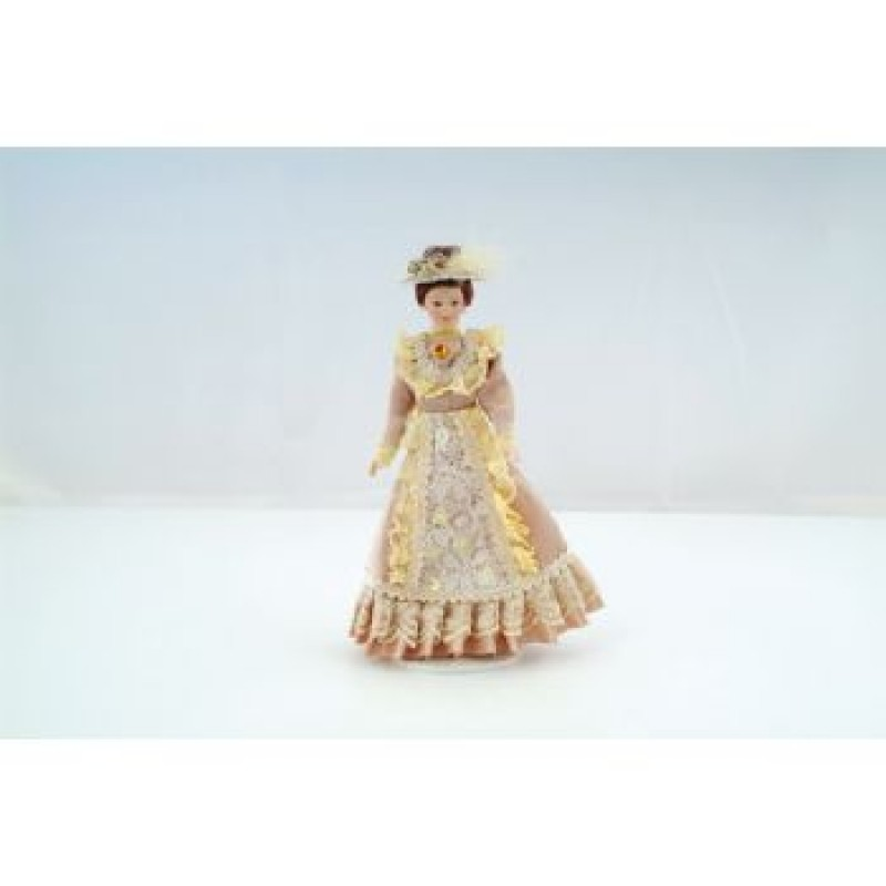 Beige Victorian Lady Doll