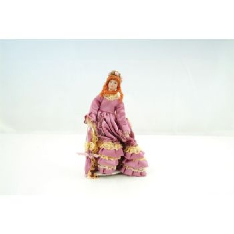 Pink Victorian Lady Doll