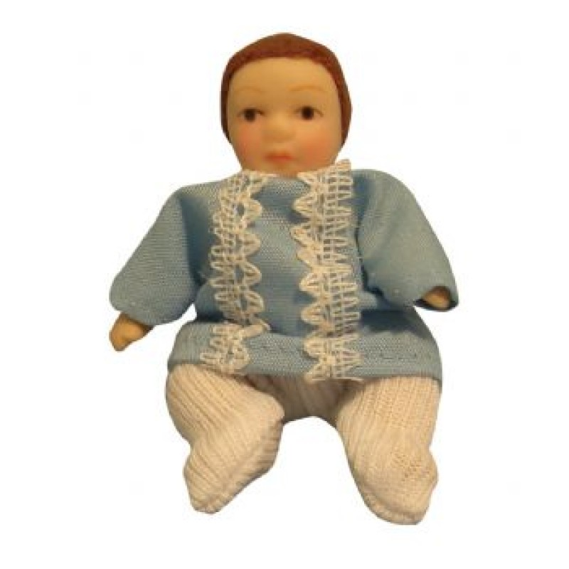 Baby Boy Doll in Romper Suit