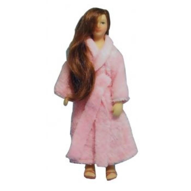 Woman in Bath Robe Doll