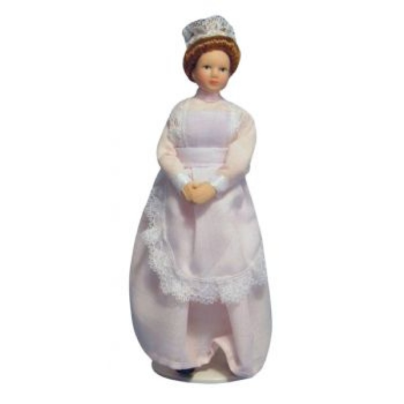Maid in Pink Dress Doll