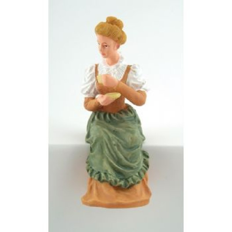 Sitting Lady Doll Holding Cup