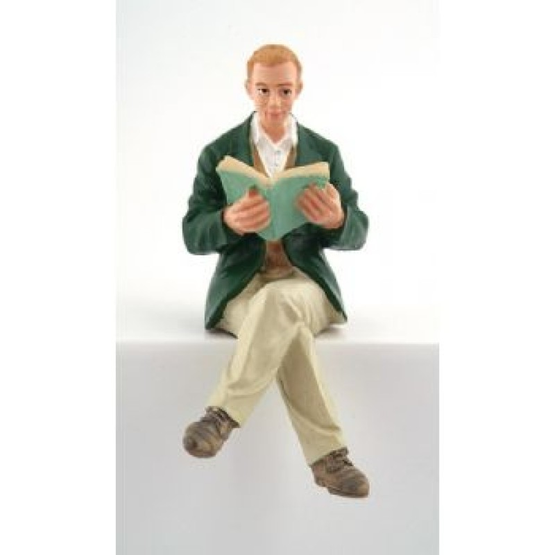 Man Doll Sitting Reading