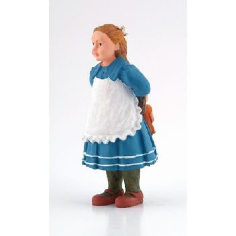 Victorian Alice Girl with Dolly