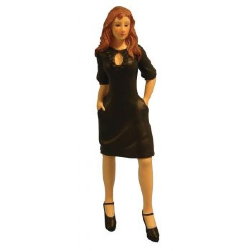 Modern Woman in Black Dress