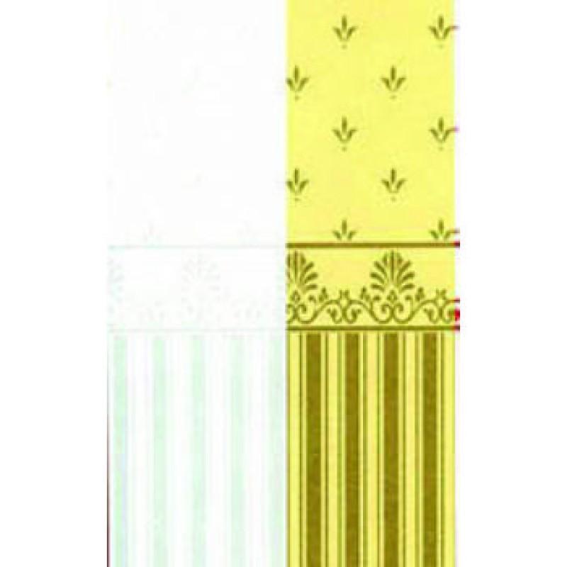 Aqua / Cream Grosvenor Paper