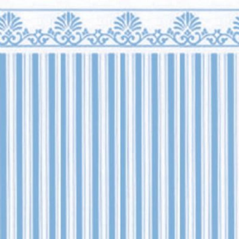 Aqua / White Majestic Paper