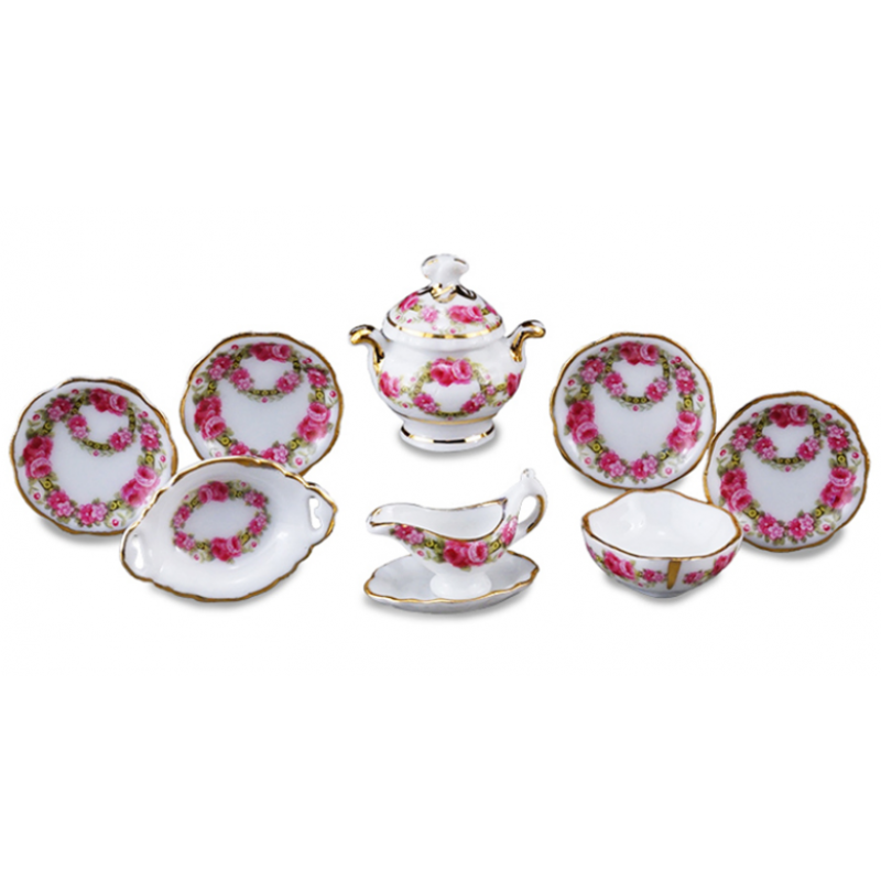 Rose band Dinner Set
