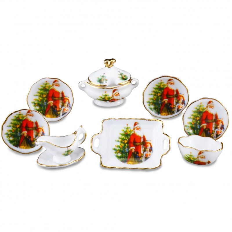 Christmas Dinner Set, 9 Pieces