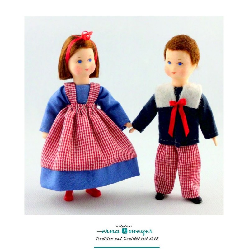 Brother and Sister Dolls, 2 pieces