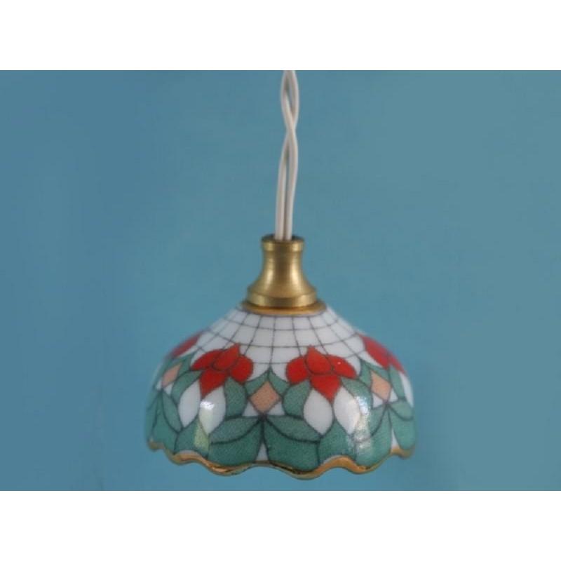 Porcelain Floral Tiffany Light
