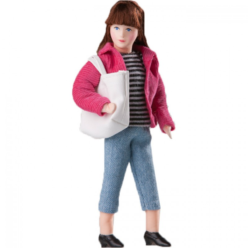 Modern Mother Doll in Jeans and Jacket with Shopper