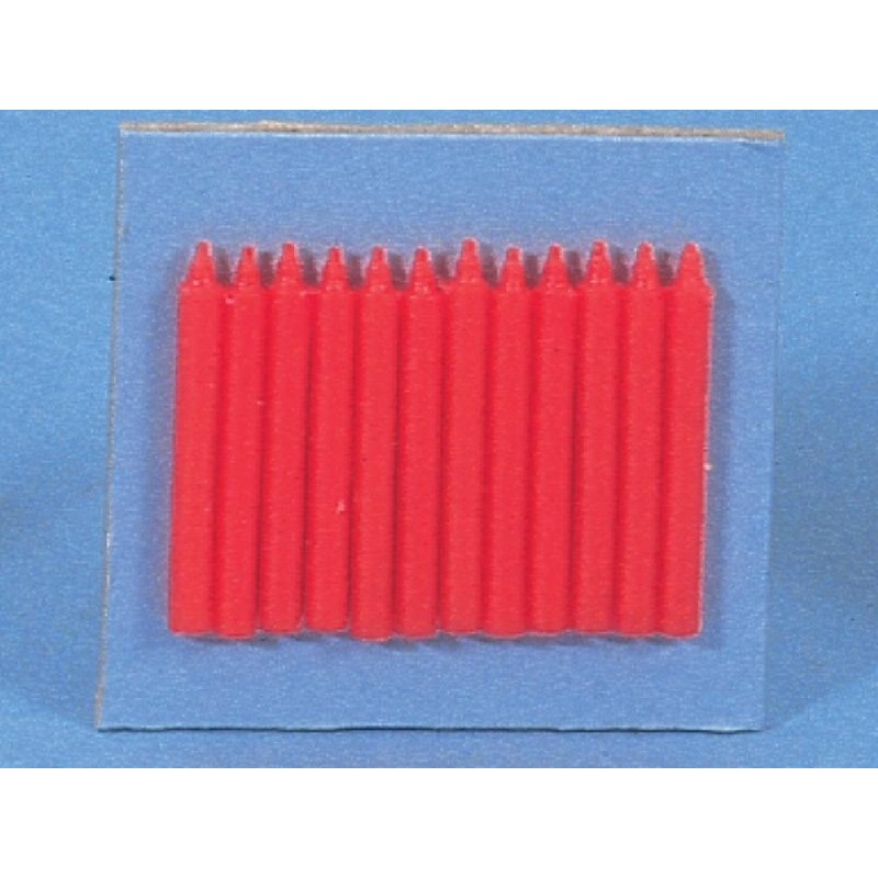 Set of 12 Red Candles