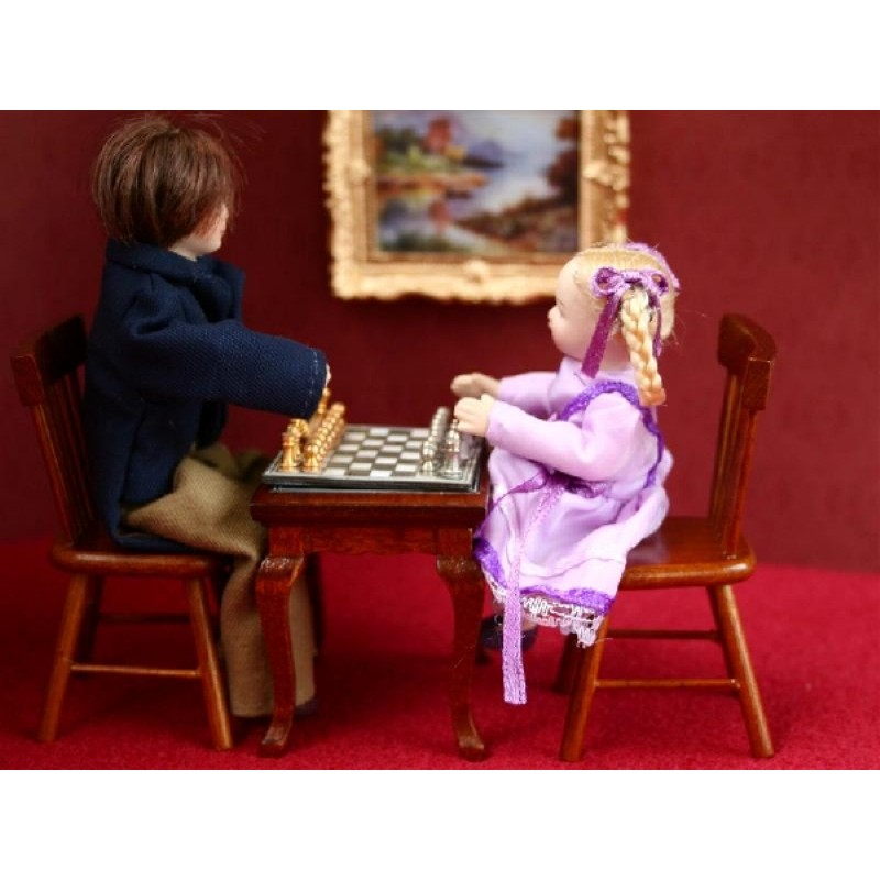 Magnetic Chess Set with Table and Chairs