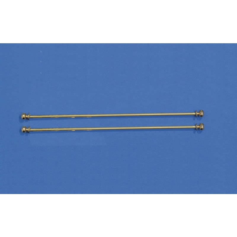Two Curtain Poles, length 140mm