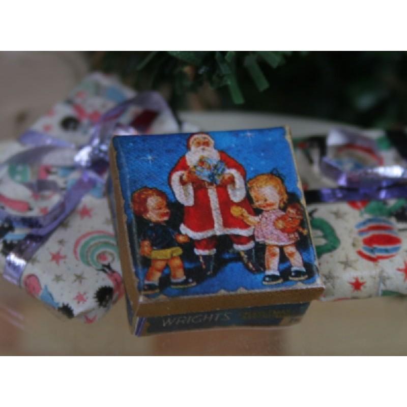 Christmas Santa Tin