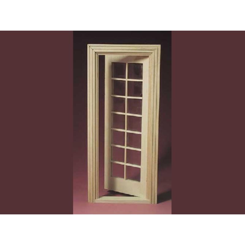 Barewood, glazed Door