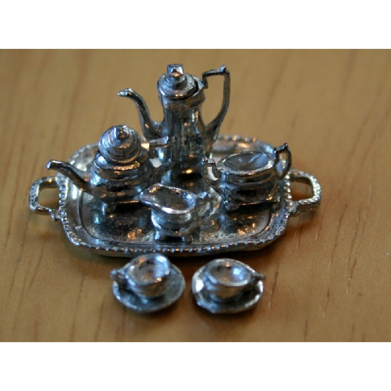 1/24th Scale Coffee Set in Pewter