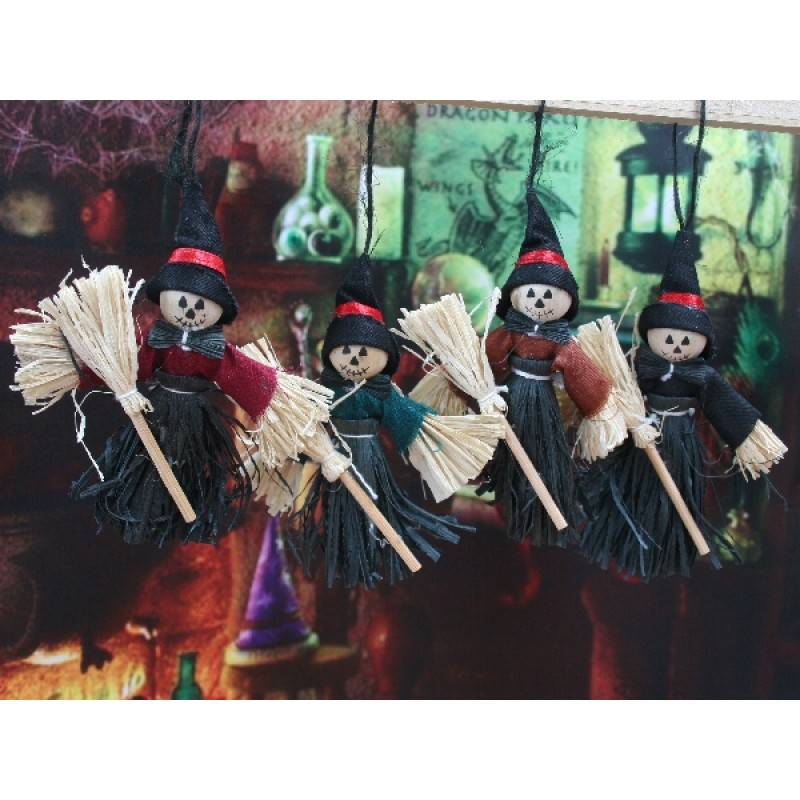 Spooky Witch Scarecrow - Assorted colours, 1piece