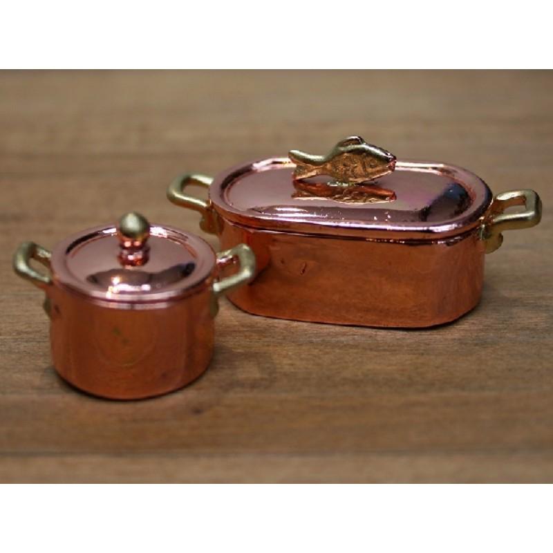 Copper Pans, set of 2
