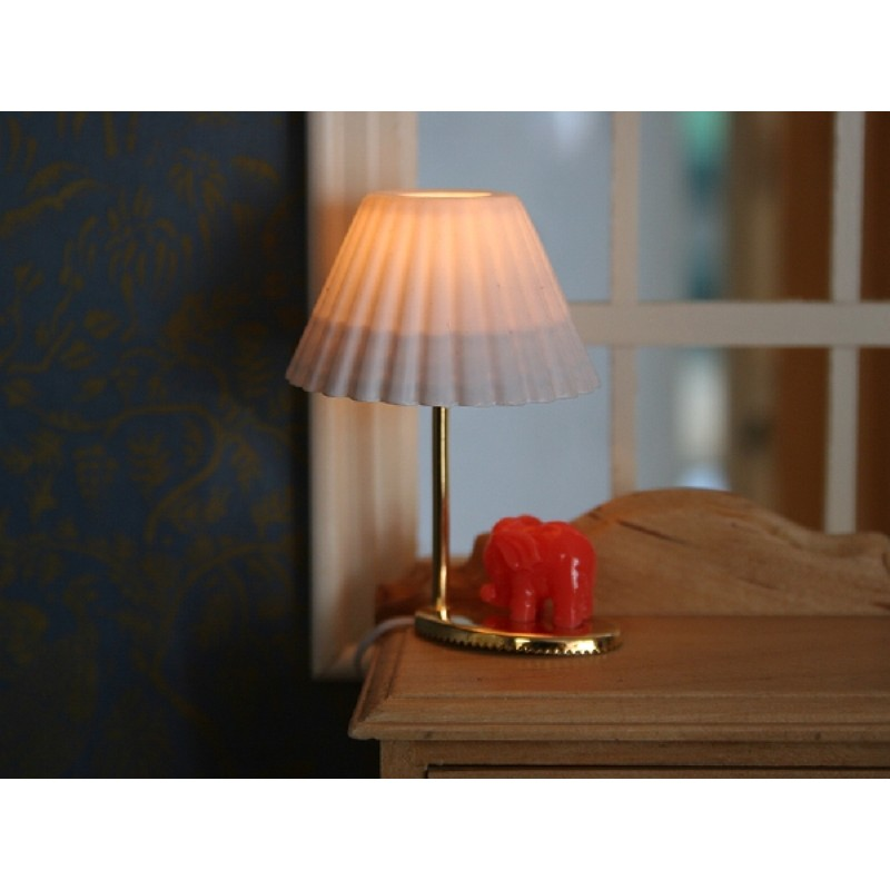 Red Elephant Table Lamp with White Shade