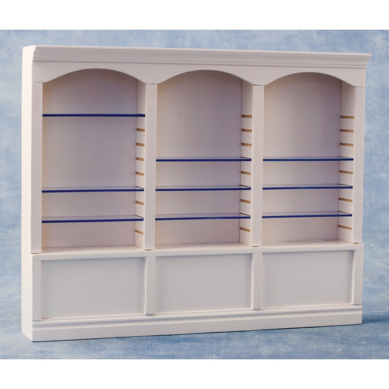 Deluxe Triple Shelves White