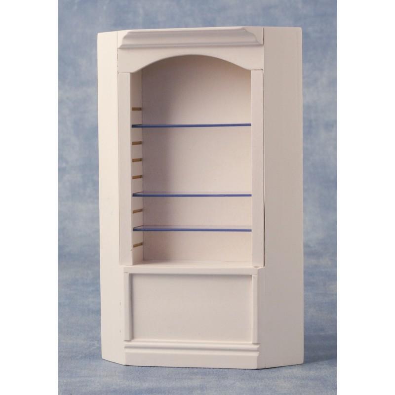 Deluxe Single Corner Shelf White
