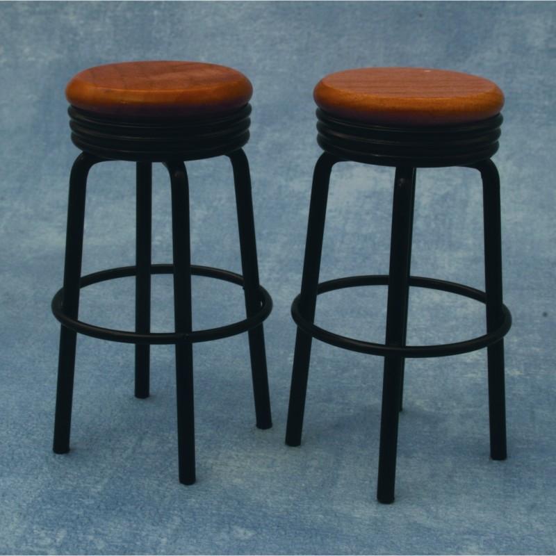 Black Bar Stools, 2 pieces