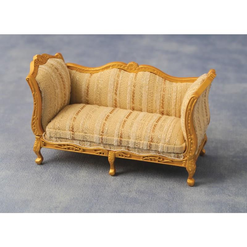 Dolls House Emporium 'Gold' & Silver Louis XV Sofa