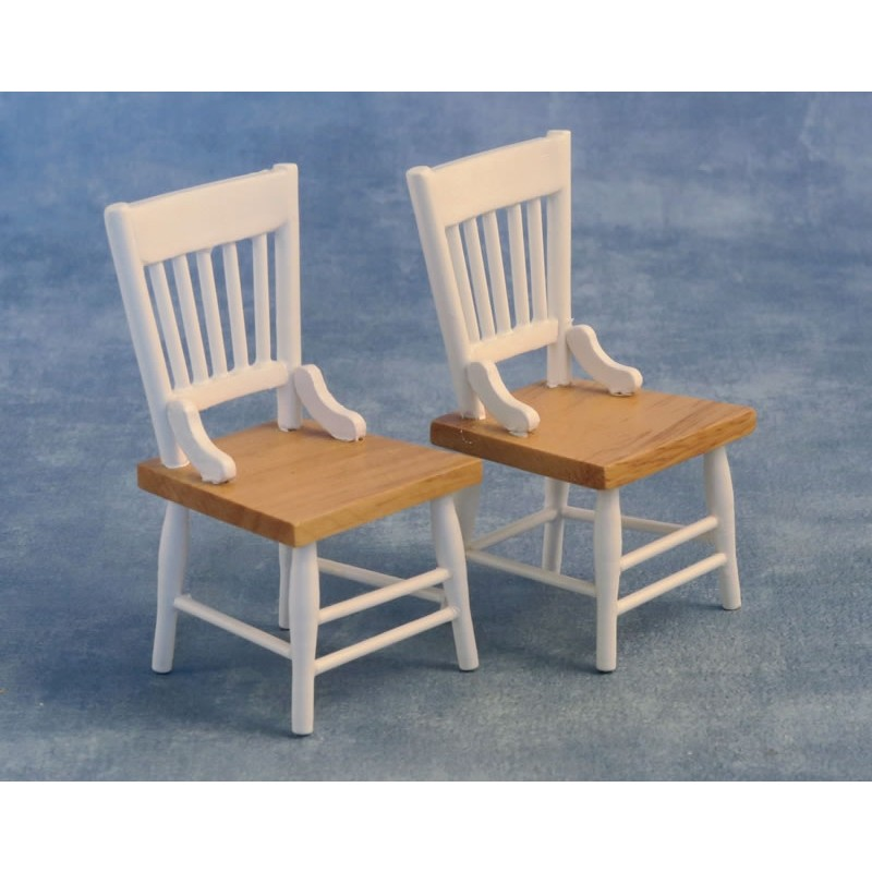 Chairs pk 2 White/Pine