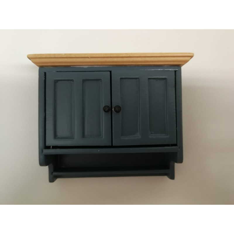 Shaker Style Wall Cabinet Blue/Pine