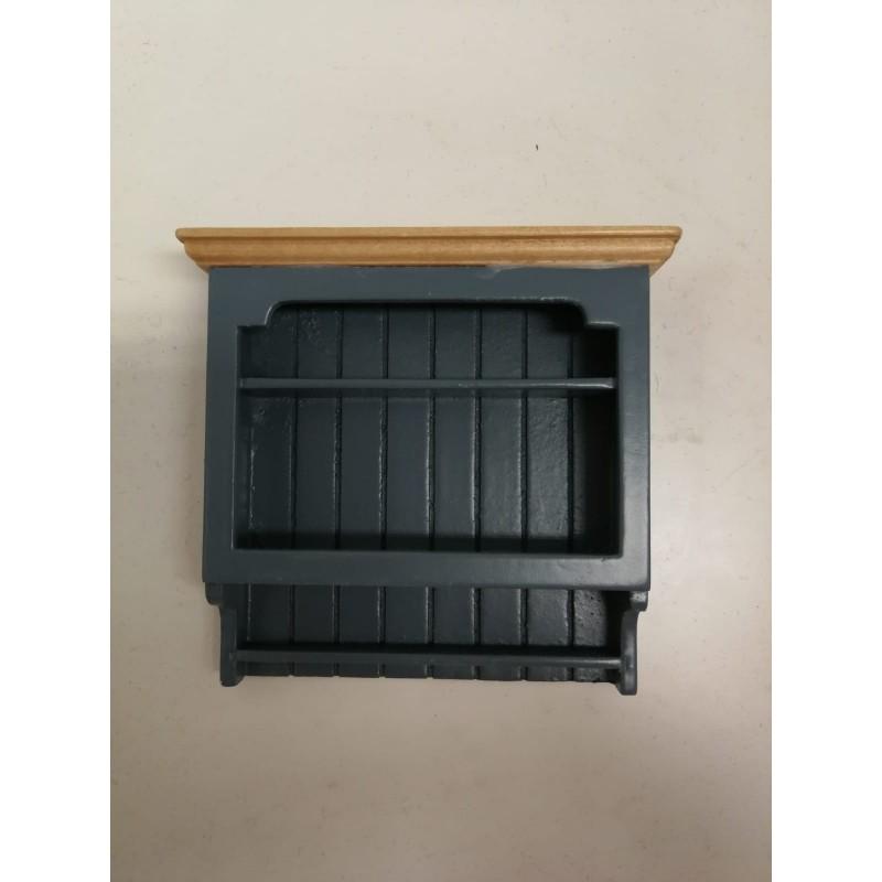 Shaker-Style Wall Shelves Blue/Pine