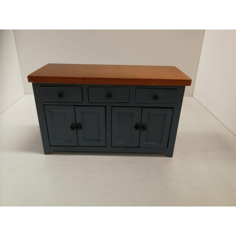 Shaker-style Wide Sideboard Blue/Pine