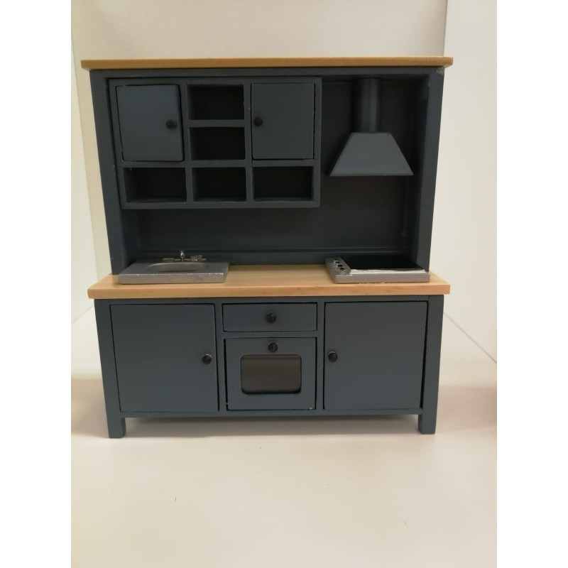 All-in-one Kitchen Unit Blue/Pine