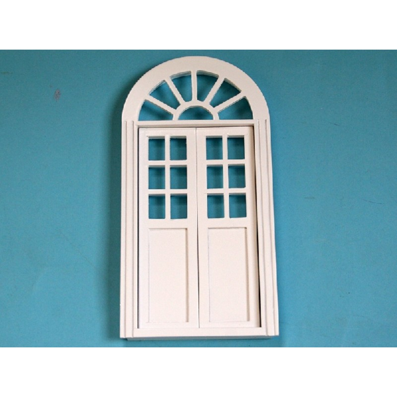 Arched Double Door in White Basecoat